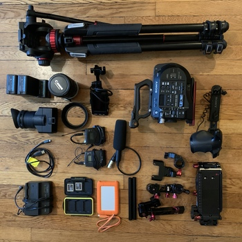 Rent Sony FS7 Mark II, Full Package Available - Audio, Tripod, Lens, Batteries, Media, Shoulder Rig, etc.