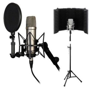 Rent Pro Recording Studio Microphone Mic+Isolation Shield+Headphones+Stand