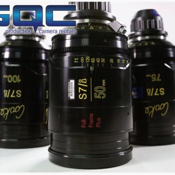 Rent Cooke S7/i  T2.0 Full Frame Plus Primes - 5 Lens Set (Choose from 18, 25, 32, 40, 50, 75, 100, 135)