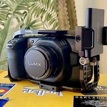Rent Blackmagic Pocket Cinema Camera 4K Kit - Body, 20mm lens, cage, tripod, extra batteries, & more!
