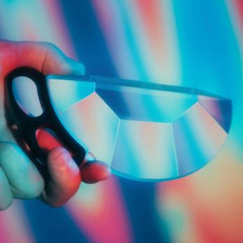 Rent 150MM Handheld Subtle Kaleidoscope - CLEAR | Prism Lens FX