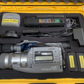 Rent Sony VX3 — 3CCD Hi8 Analog Video Camera w/ 8mm Tape Deck for Computer Transfers