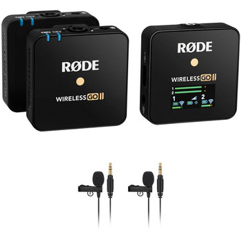 Rent Rode Wireless GO II - DUAL Transmitter Microphone System/Recorder w 2 Lavs & XLR