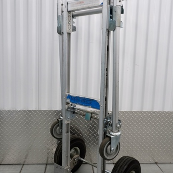 Rent Global Industrial Junior Aluminum 2-in-1 Convertible Hand Truck With Pnematic Wheels