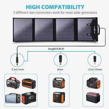 Rent 100W Foldable Solar Panel Portable Power Station Generator and 3 x USB Devices C