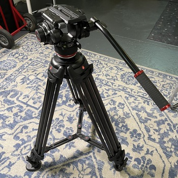 Rent Manfrotto 504X Fluid Video Head & Carbon Fiber Tripod with Mid-Level Spreader