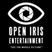 Open iris logo black background sqaure with slogan 2017