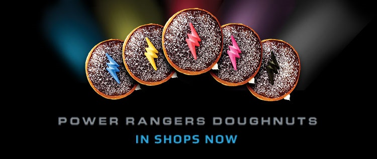 Krispy Kreme Donuts for the Power Rangers Movie in Shops Now