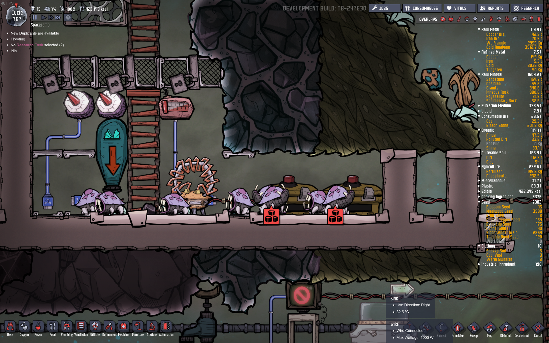 Oxygen Not Included Hatch Farm Home Collection