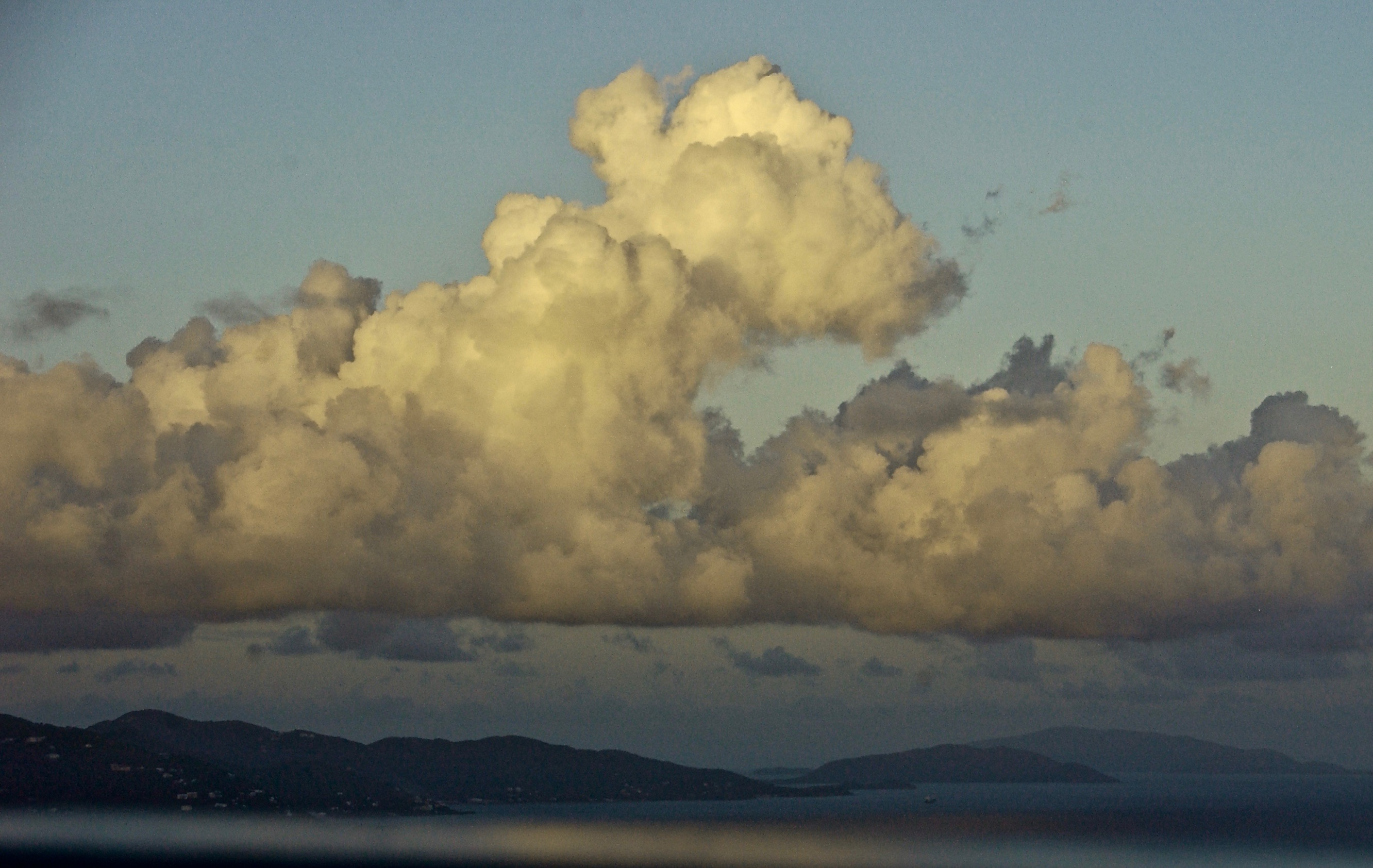 Caribbean Majesty; Towering Clouds; Coral Bay, St. John, U.S. Virgin Islands, USA