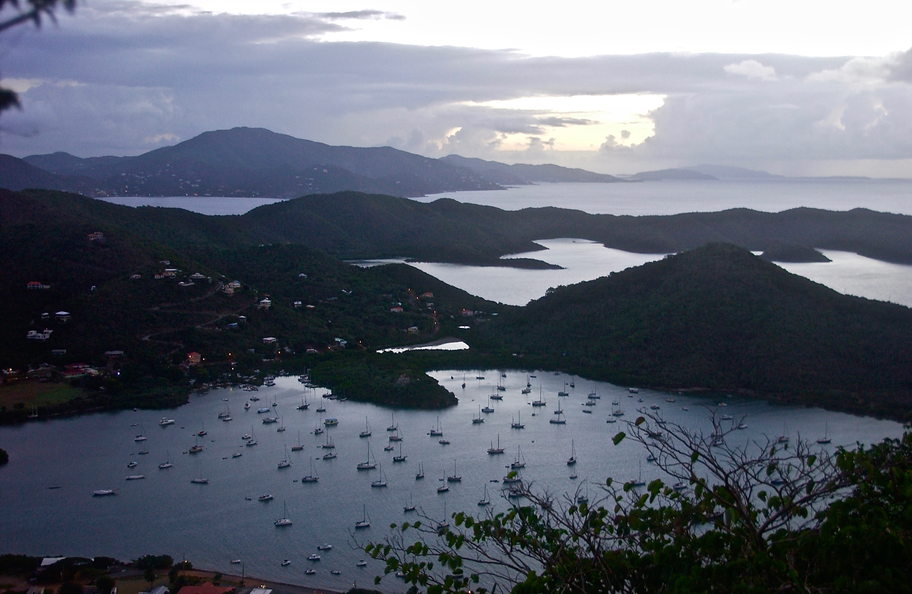 A Bordeaux Mountain View of Coral Bay; St. John, U.S. Virgin Islands, USA