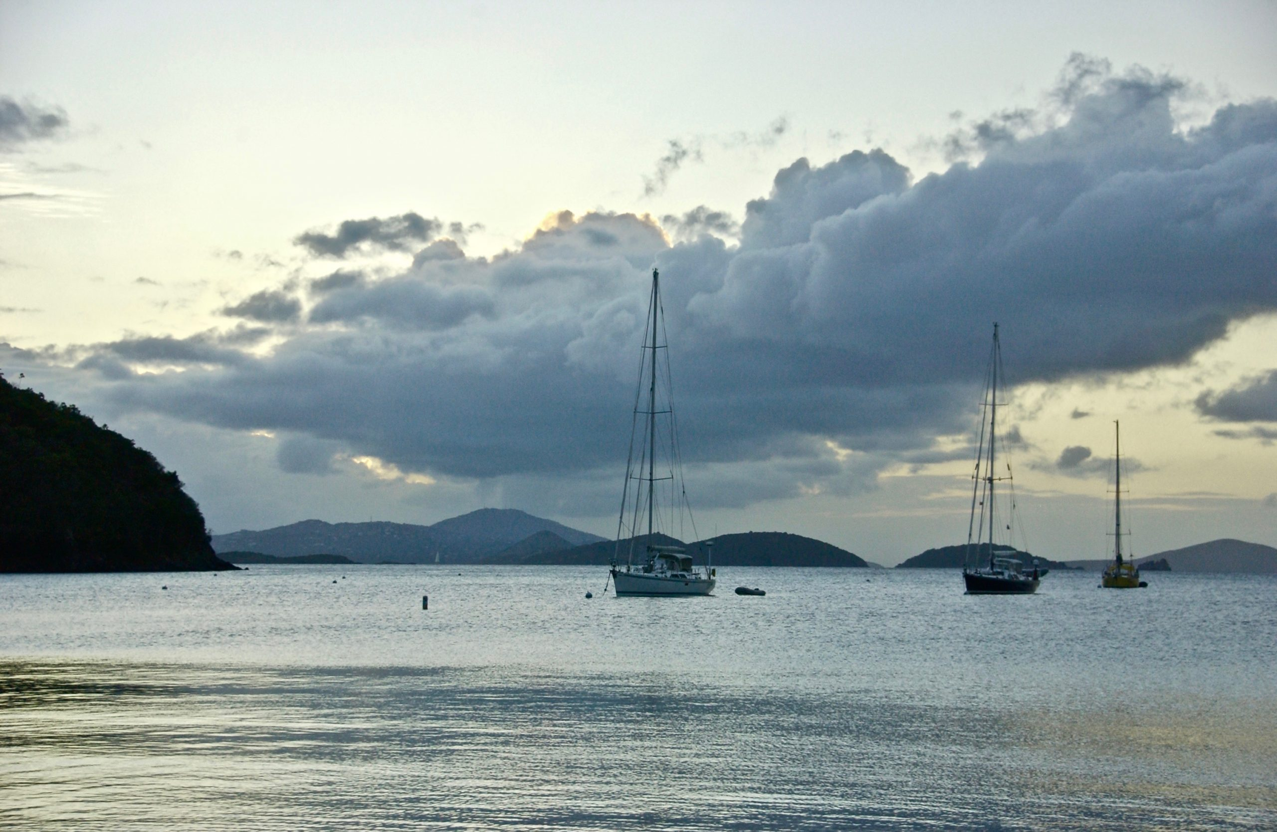 Calm:  Late-Day Anchorage; Francis Bay, St. John, U.S. Virgin Islands