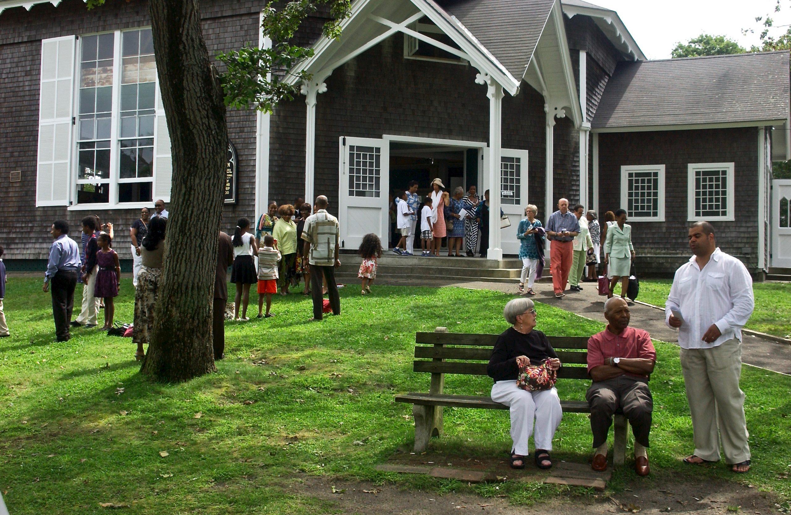 One Sunday; Congregation; Union Chapel; Oak Bluffs, Martha's Vineyard, Massachusetts, USA