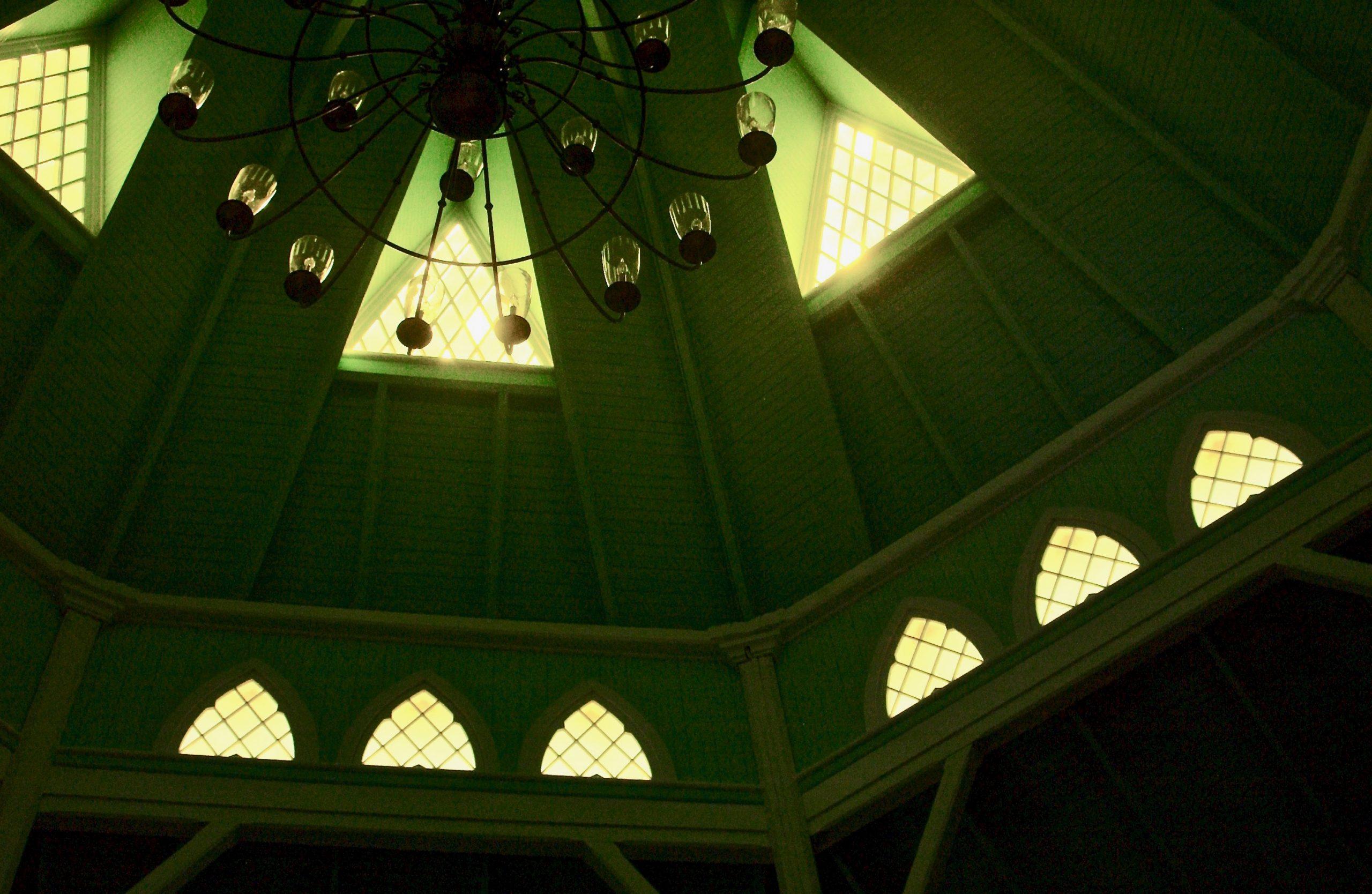 Where the Light Comes Streaming in; Union Chapel, Oak Bluffs, Martha's Vineyard, Massachusetts, USA