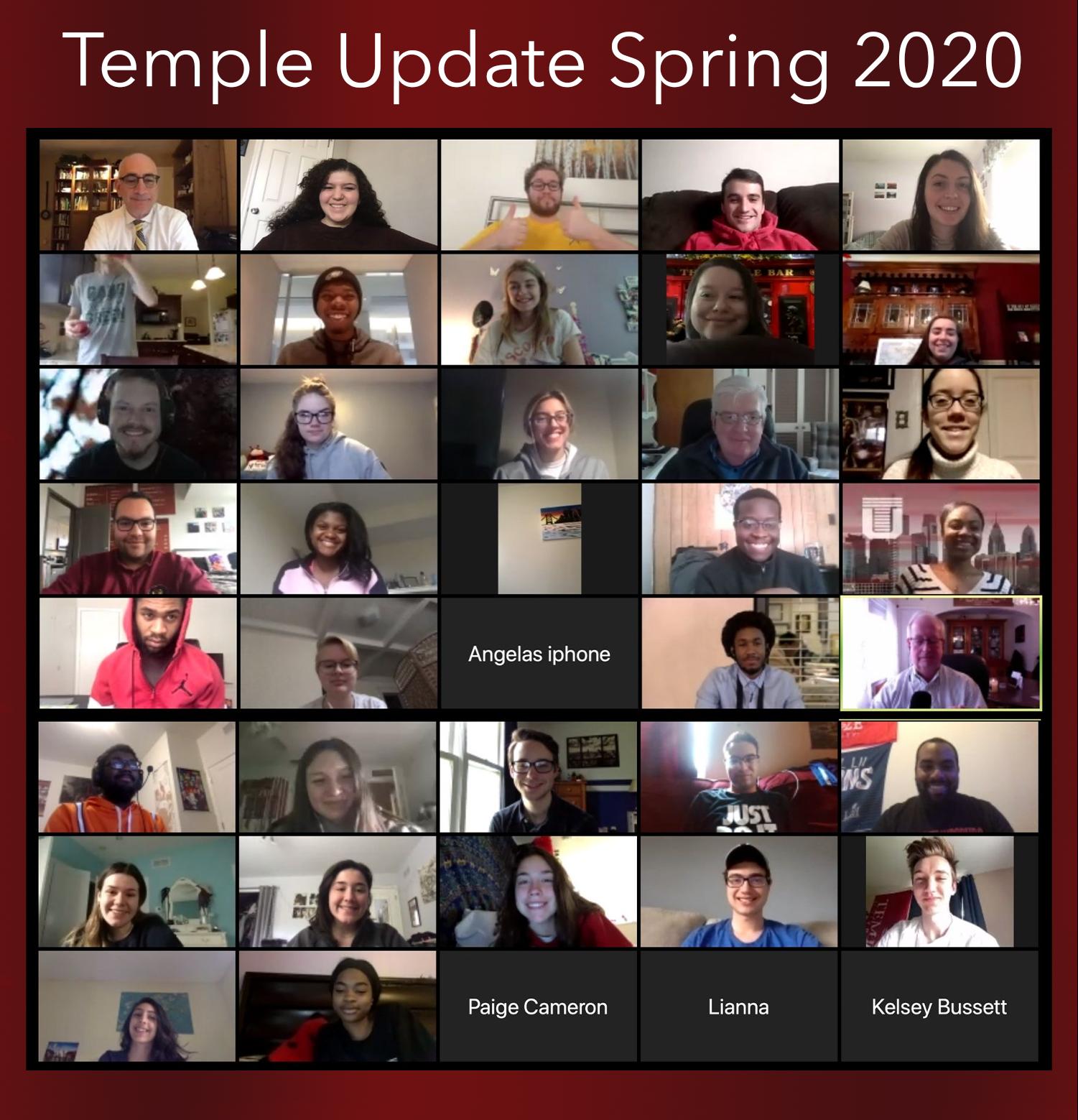 Temple Update Spring 2020 Seniors