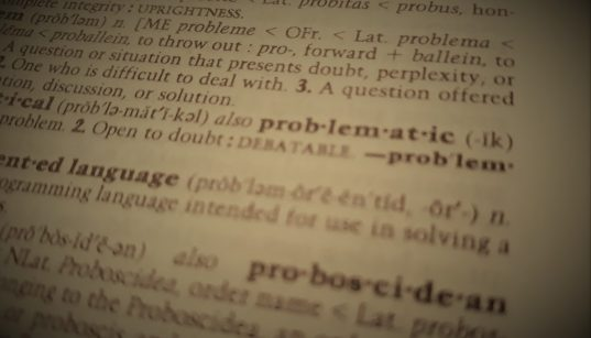 """A dictionary entry for the word """"problematic"""""""