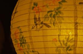Lantern detail; Grand Illumination; Martha's Vineyard Campground Association; Oak Bluffs, Massachusetts, USA. August 2012.