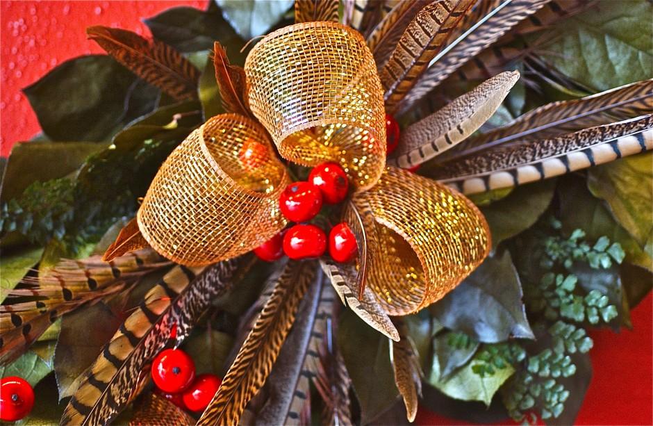 Holiday decoration detail; Longwood Gardens; Kennett Square, Pennsylvania, USA.  November 2014.