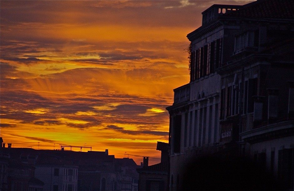 Sunset sequence in winter; Venice, Italy. December 2014.