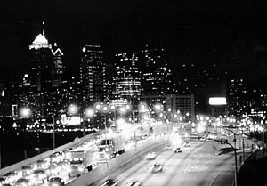 """""""View of the City"""" Sarah Ironman, Basic Photography Spring 2000"""