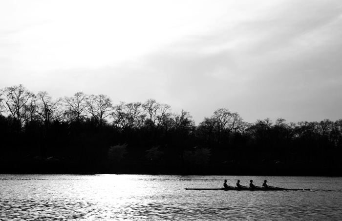 """Rowers on the River"" Elizabeth Stevens, Basic Photography Spring 2011"