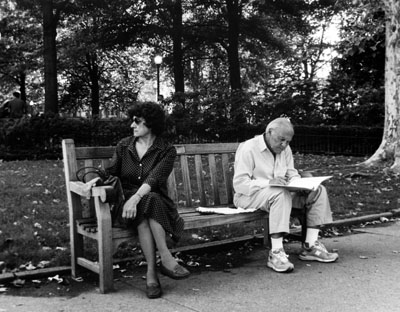 """Rittenhouse Square, Film"" Erika Weber, Basic Photography Fall 2006"