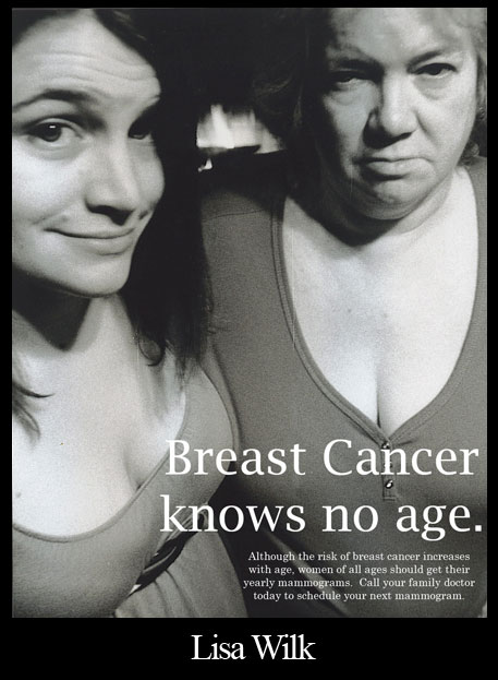 """Breast Cancer Ad"" Basic Photography Fall 2008"