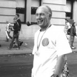 """Old Person"" Frank, 67, cannot remember when he started, but ""I just finished the New York Marathon, can't I celebrate?"" Sofia Negron, Basic Photography, Fall 2001"