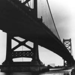 """Ben Franklin Bridge"" Cagla Alkan, Basic Photography, Fall 2001"