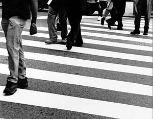 """Crosswalk"" Nena Simeonidou, Basic Photography Fall 2000"