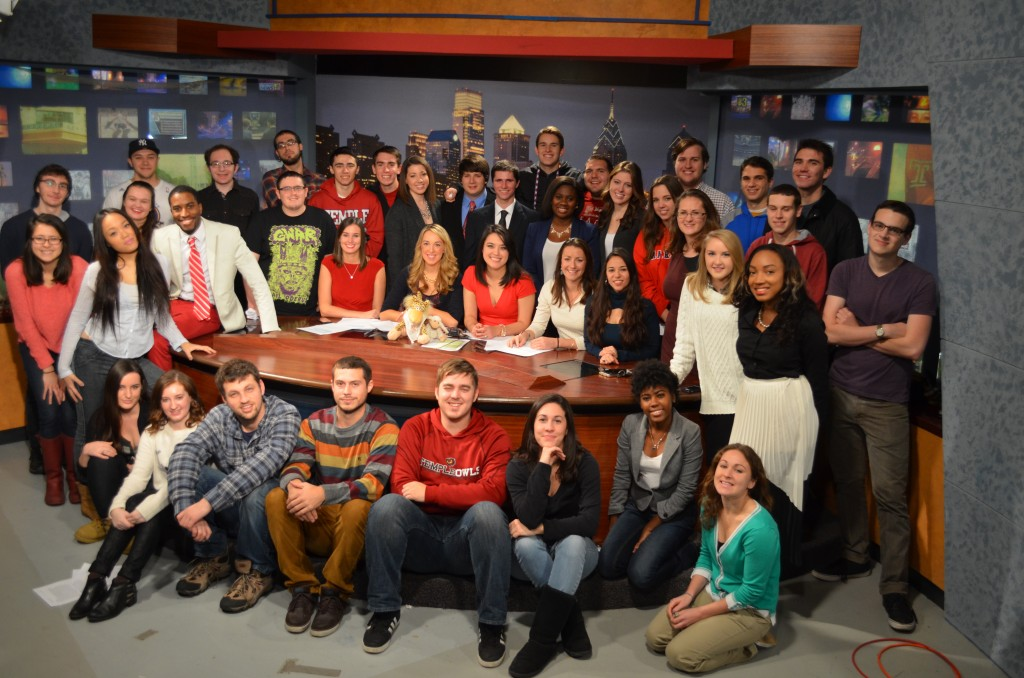 The Temple Update crew for the Fall 2014 semester.