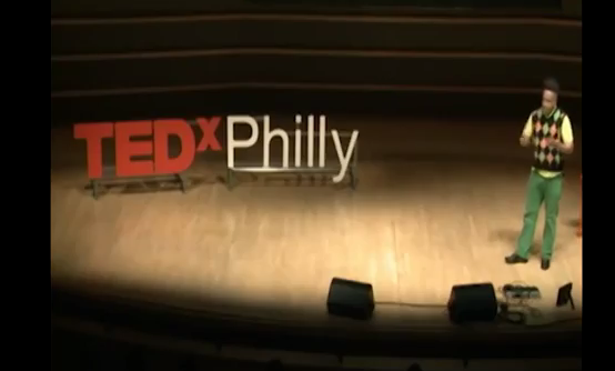 Member of TEDx Philly on stage