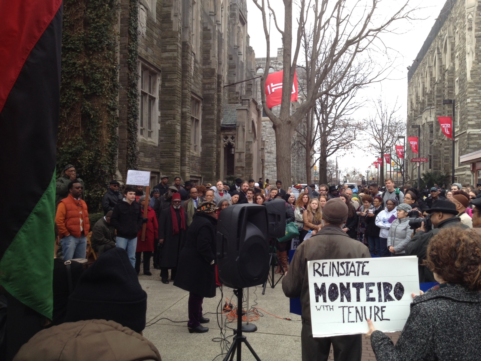 Students Protest for Fired Professor