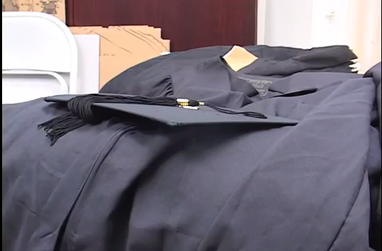 Gently used graduation gowns