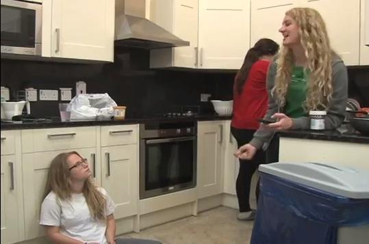 Student enjoy residential life in FIE housing