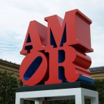 Robert Indiana's Amor Sculpture gets installed at Philadelphia Museum of Art.
