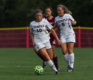 Temple Womens Soccer Brings Down La Salle Explorers 3-0.