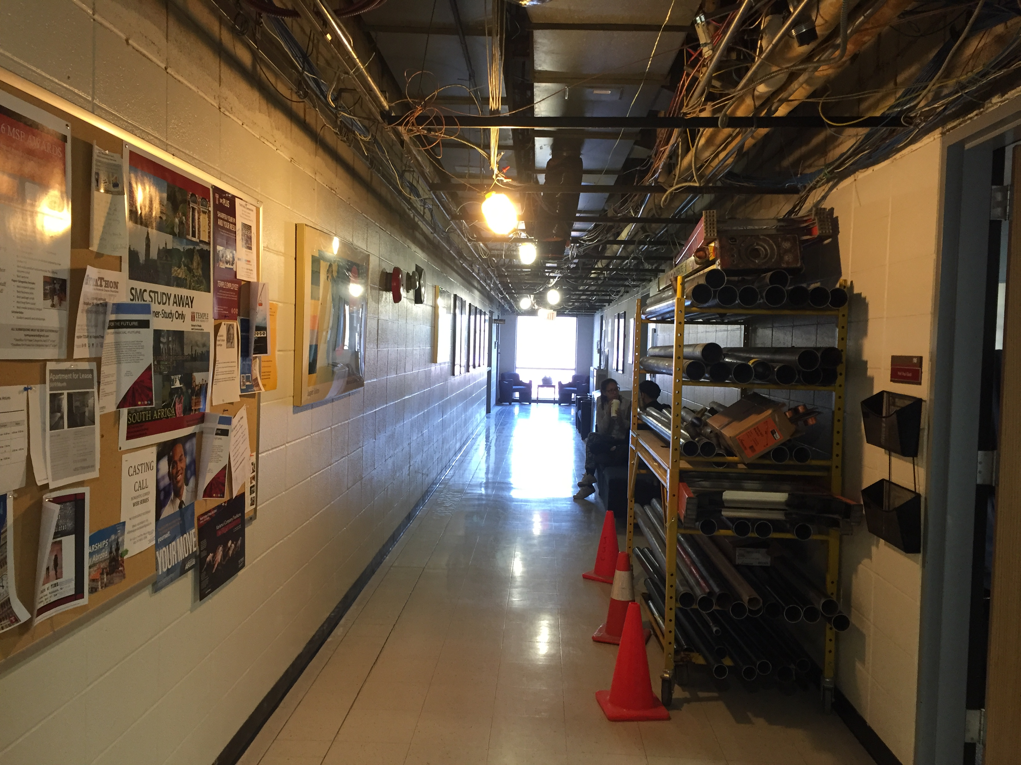 Annenberg Hall undergoes construction to install new alarm and sprinkler system.