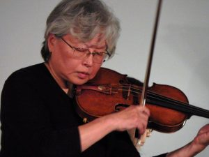 """Violinist Millie Bai of Boyer performing """"The Butterfly Lovers' Concerto""""."""