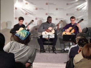 Students of Allen Krantz playing classical music on the guitar.