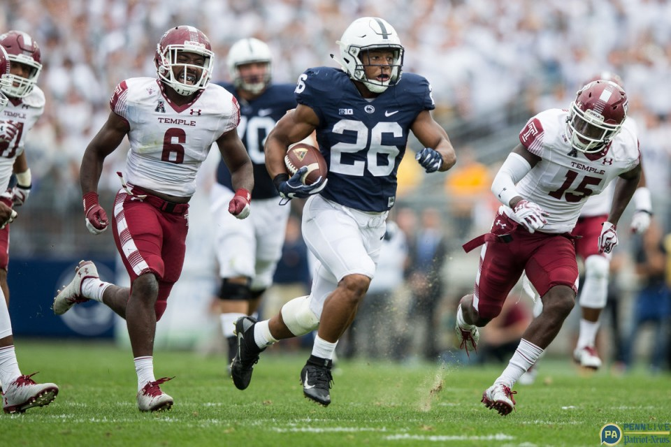 Penn State's offense managed over 400 total yards on Saturday, and Saquon Barkley. // Credit: pennlive.com