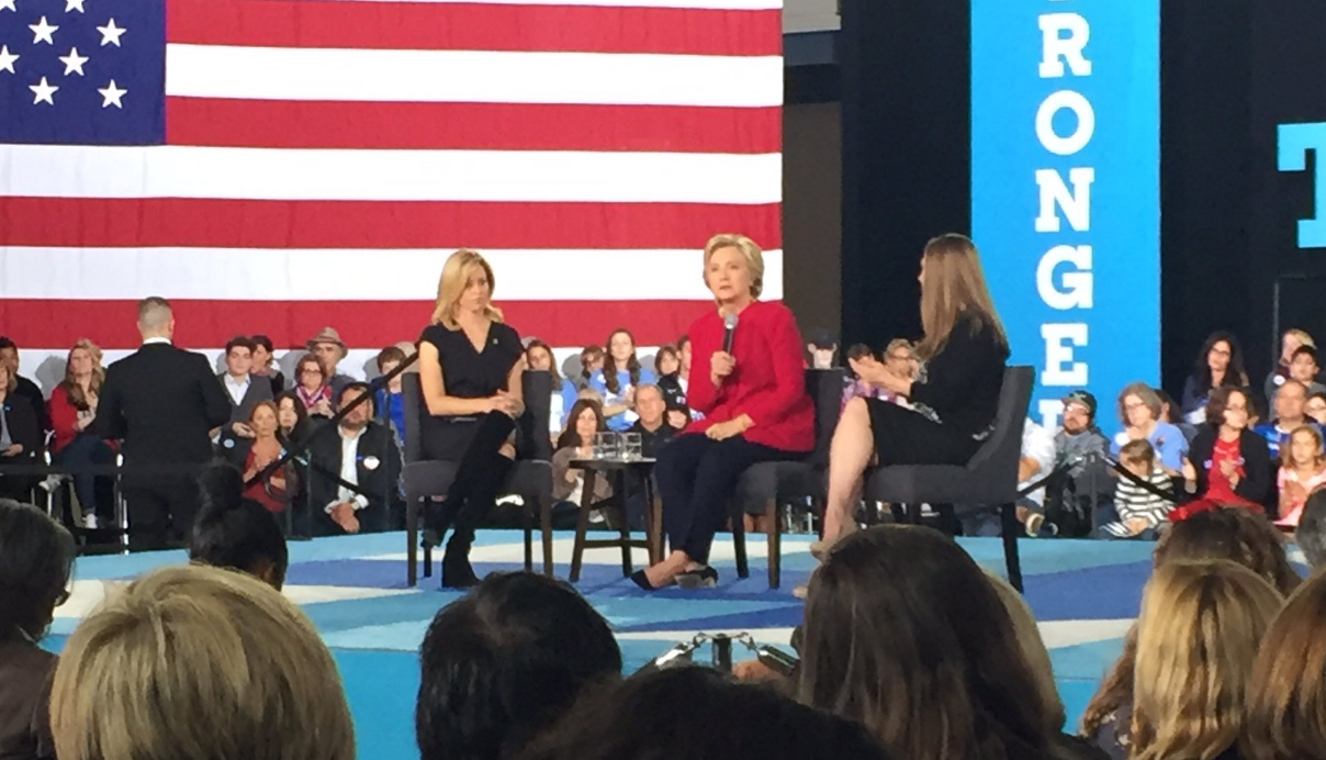 Hillary Clinton Promotes Families at Haverford Town Hall