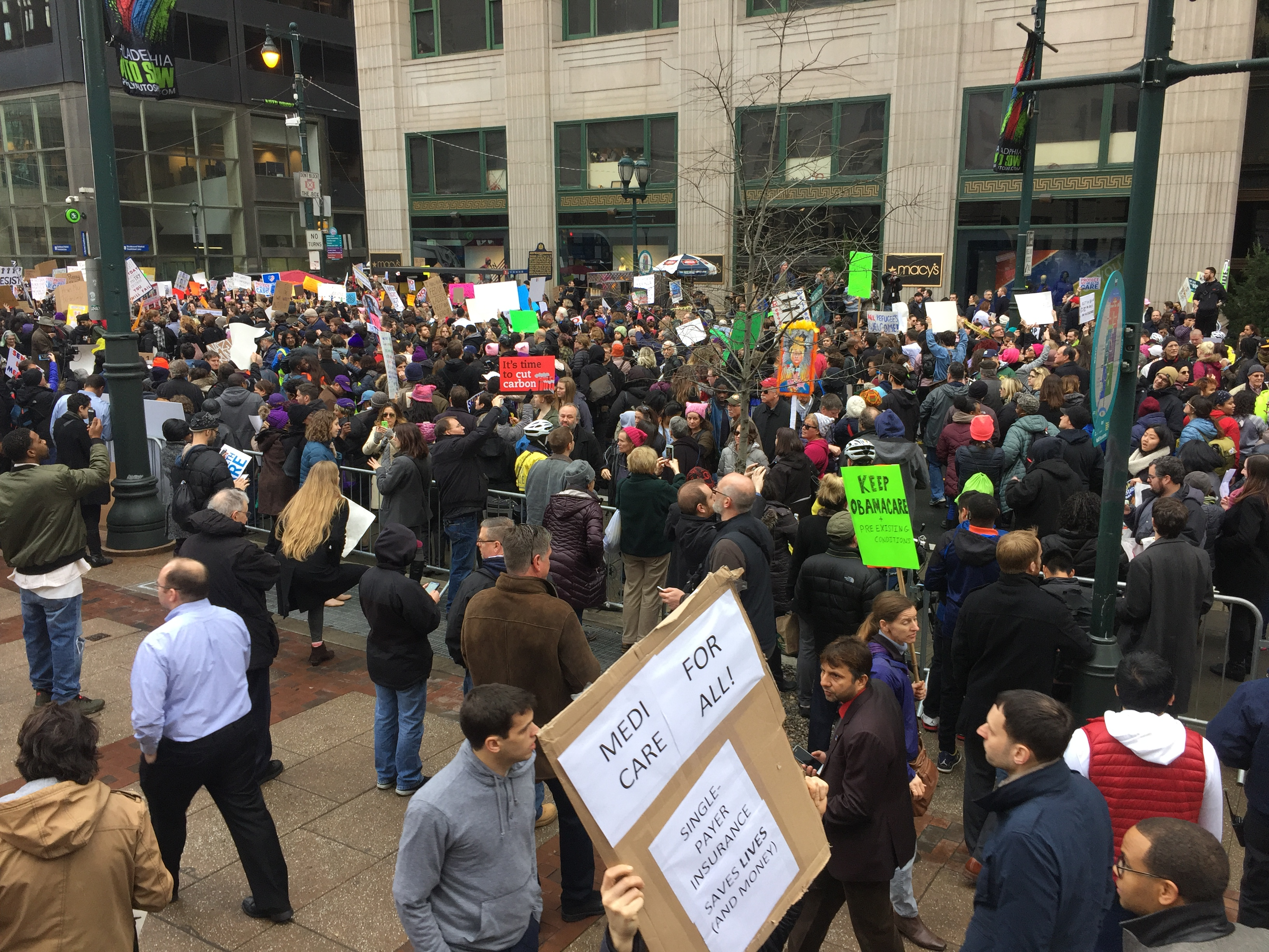 Thousands Protest Donald Trump at Republican Retreat in Philadelphia