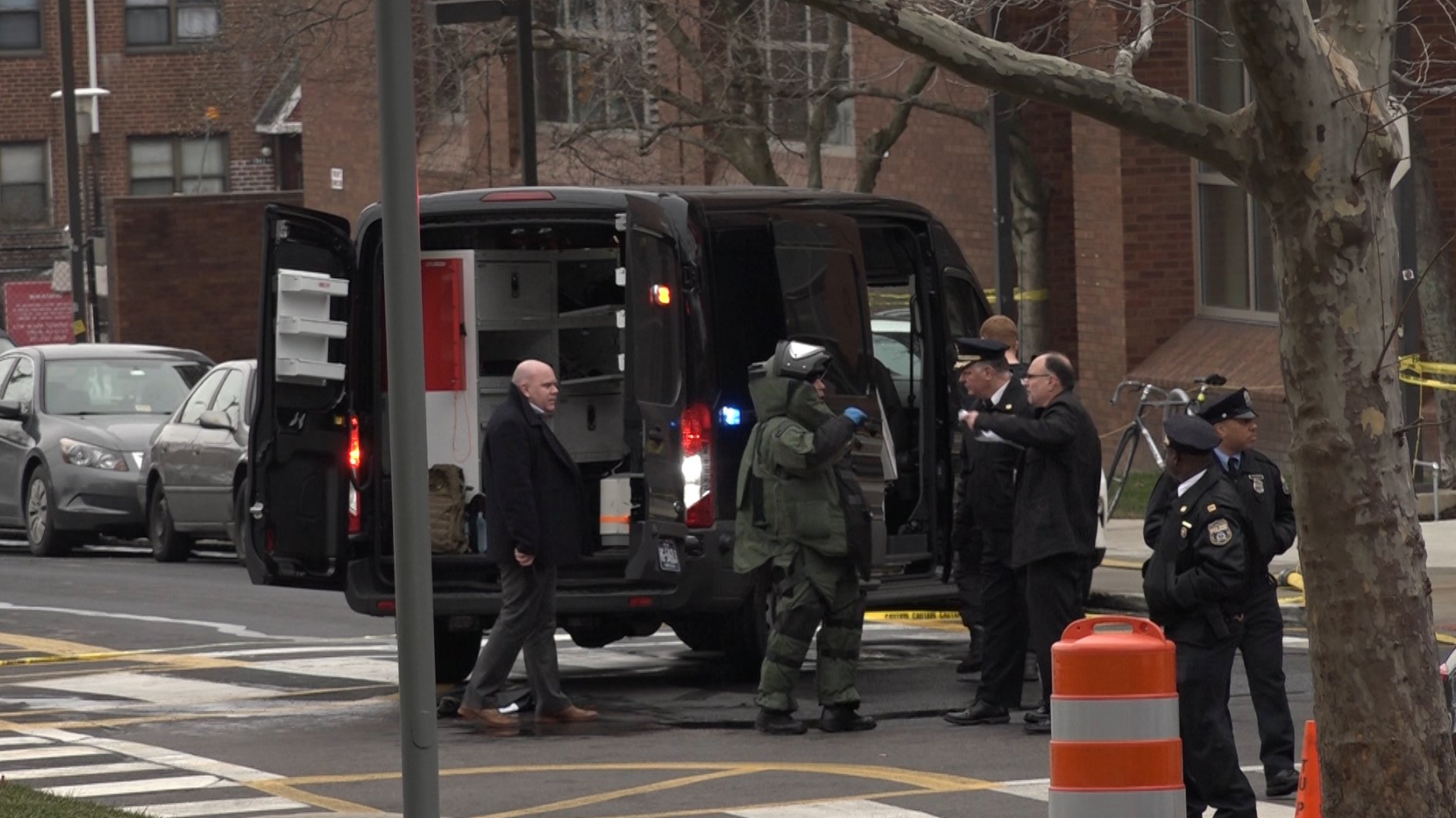 Philadelphia Bomb Squad Disposes of Suspicious Package Outside College of Engineering Building