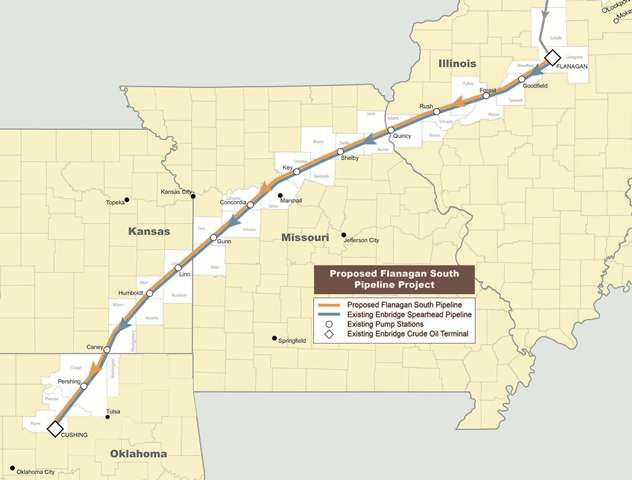 Enbridge's pipeline proposal.
