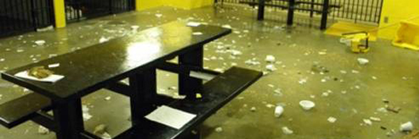 Riot reported in the Johnson County Jail