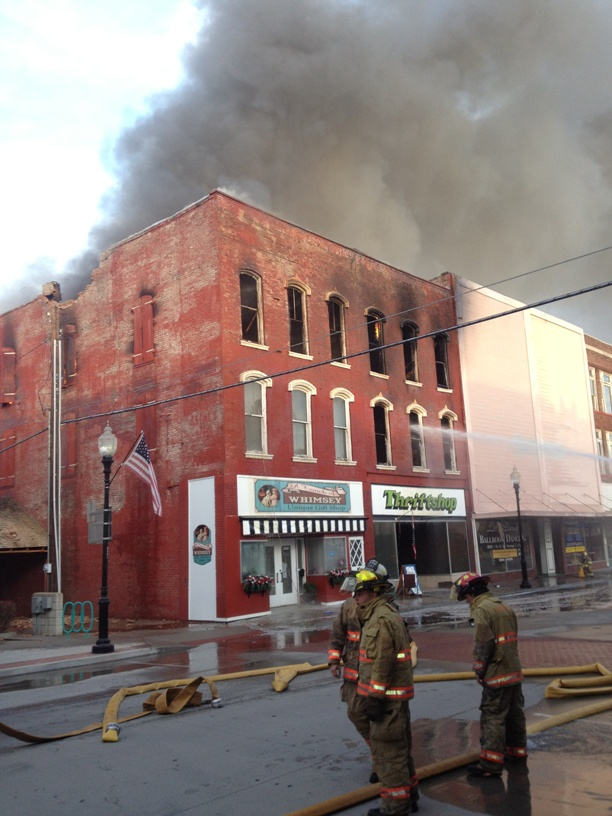 Downtown Fire Consumes Two Buildings
