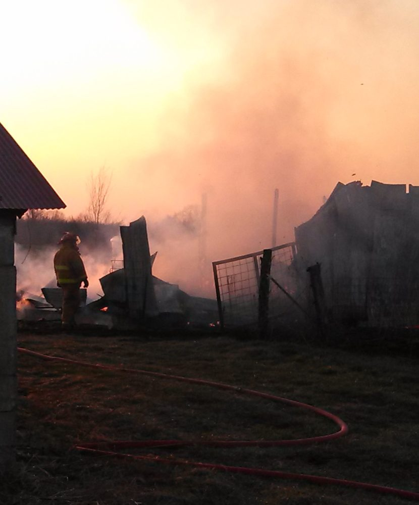 Crews Fight Barn Fire
