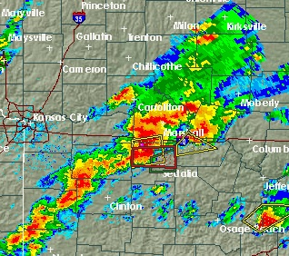 Tornado Spotted in Johnson/Pettis Counties