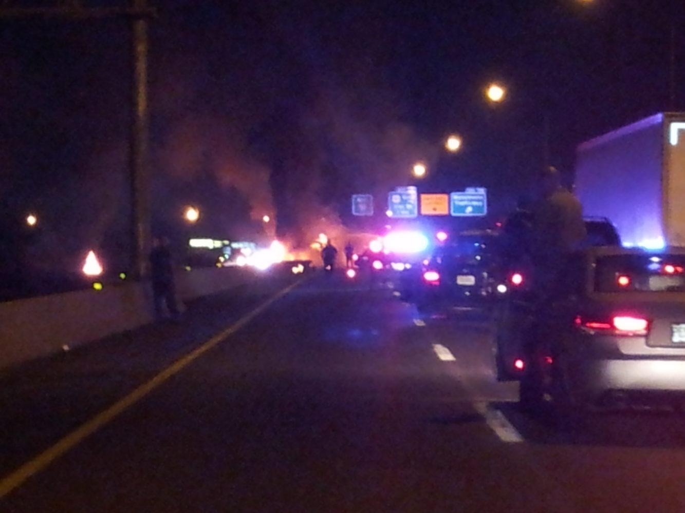 Tanker Truck Catches Fire